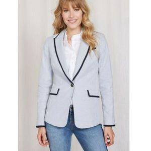 Boden Cotton Ellen Blazer in Ticking Stripe